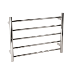 Towel Rail Heated 5 Bar 50W 460x600 Round 304SS